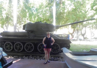 The SAU-100 tank used by Castro during the 1961 battle of Bay of Pigs